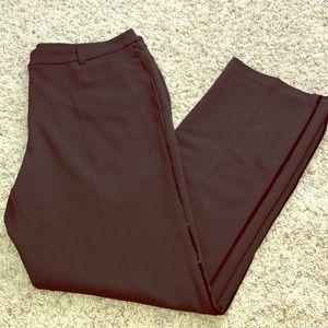 NWOT Black Slacks with Suede Stripe
